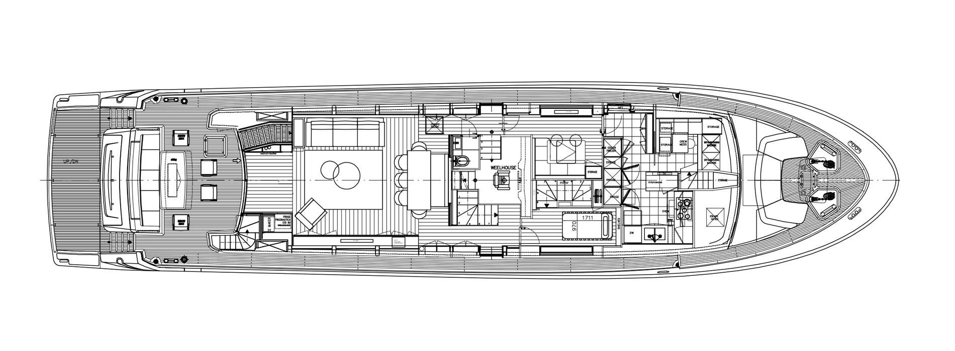 Sanlorenzo Yachts SL96-623 Cubierta principal