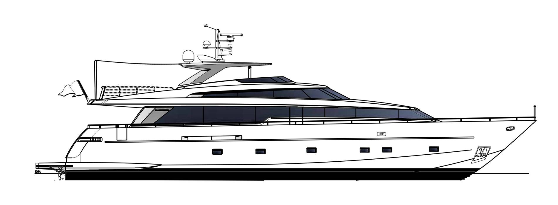 Sanlorenzo Yachts SL96-623 Perfil