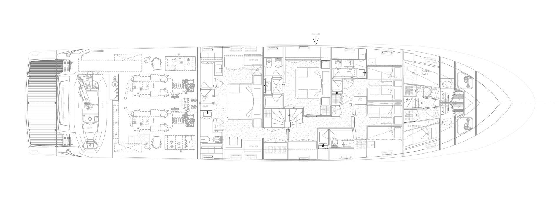 Sanlorenzo Yachts SL96-631 Cubierta inferior