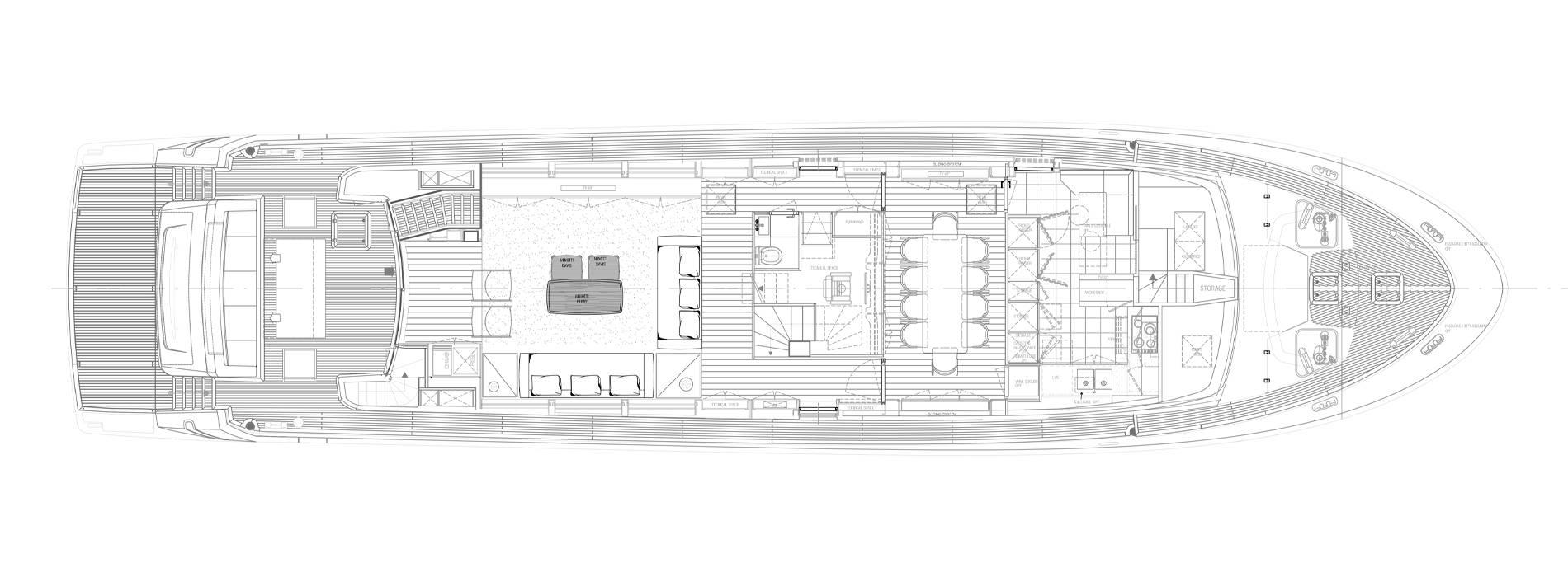 Sanlorenzo Yachts SL96-631 Cubierta principal