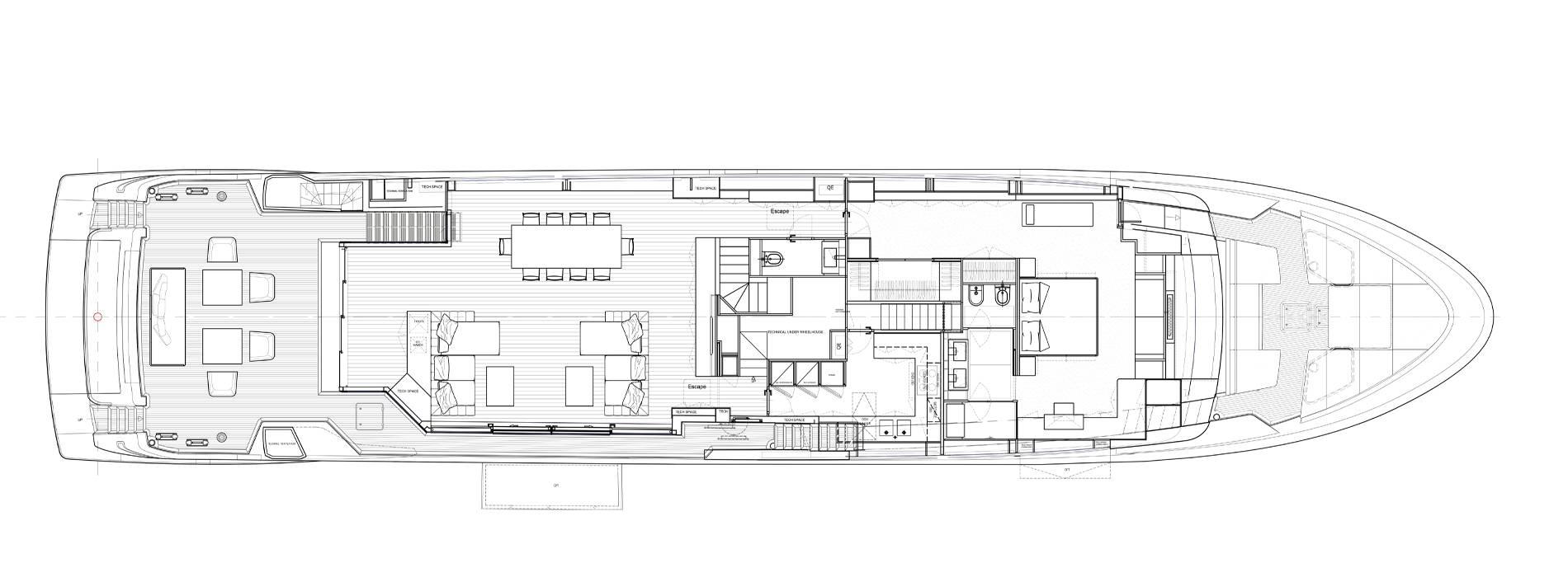 Sanlorenzo Yachts SL120 Asymmetric  Cubierta principal