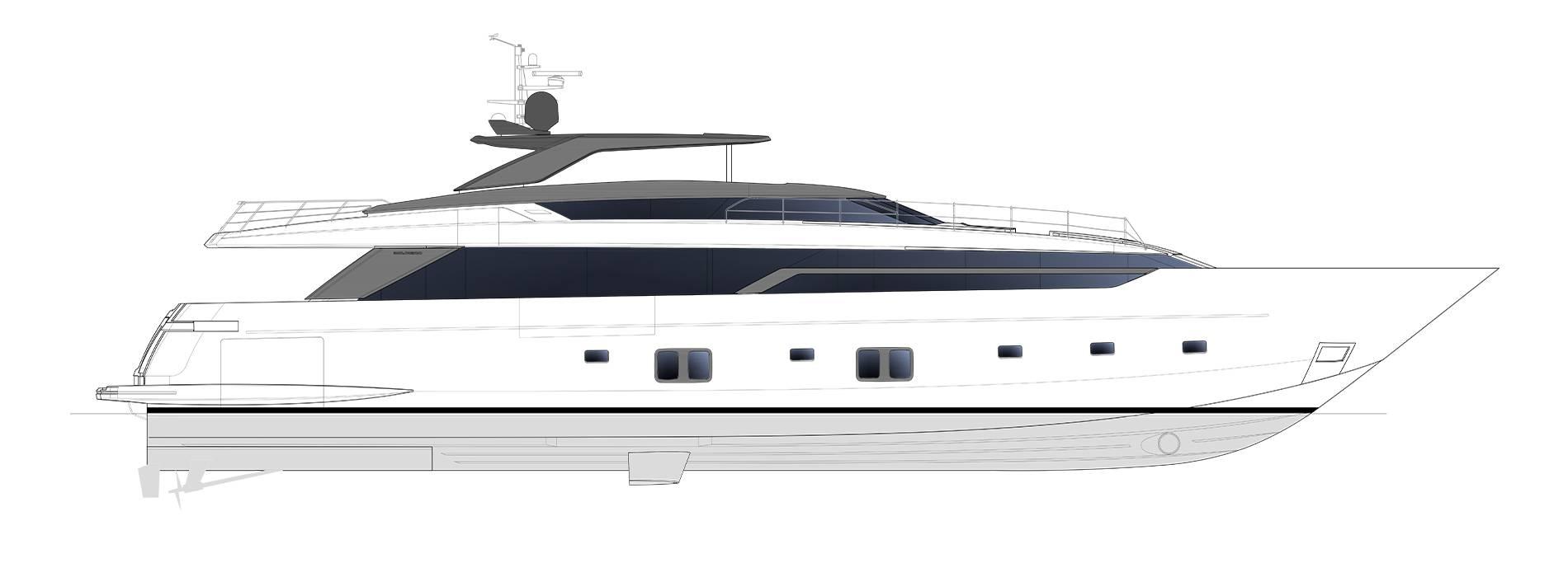 Sanlorenzo Yachts SL120 Asymmetric Perfil