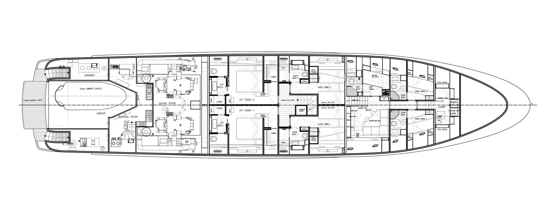 Sanlorenzo Yachts SD122-127 Lower Deck