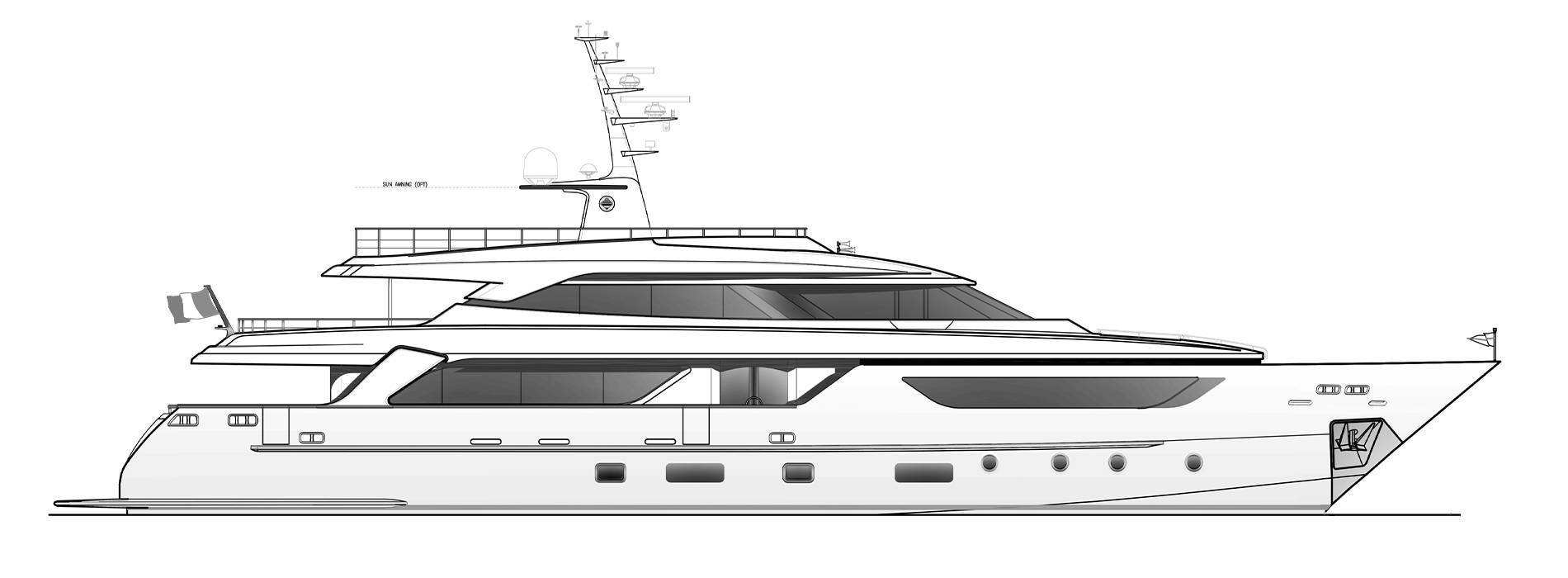Sanlorenzo Yachts SD122-127 Perfil