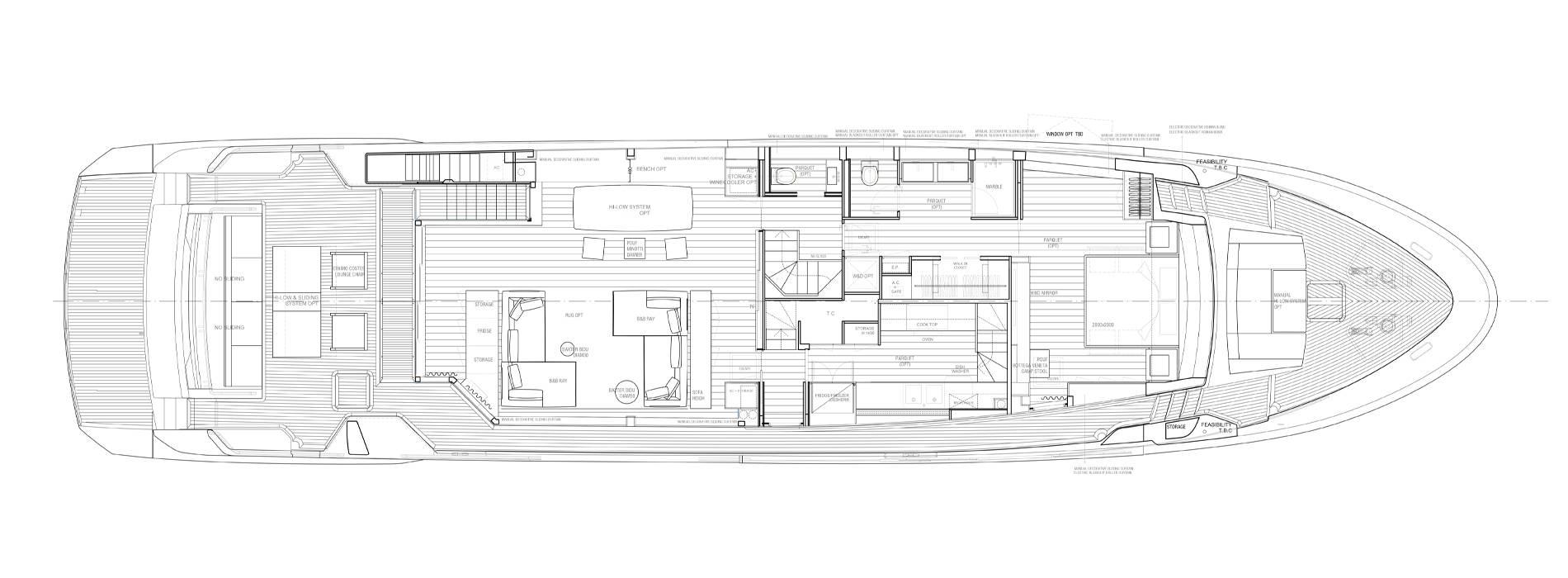 Sanlorenzo Yachts SL102A-746 Cubierta principal