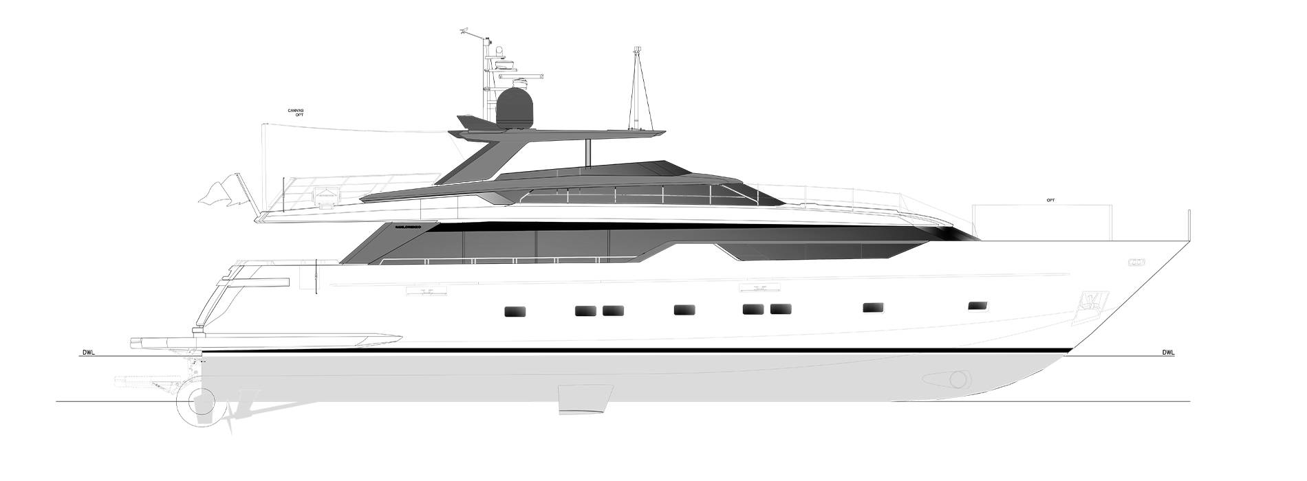 Sanlorenzo Yachts SL102A-746 Perfil