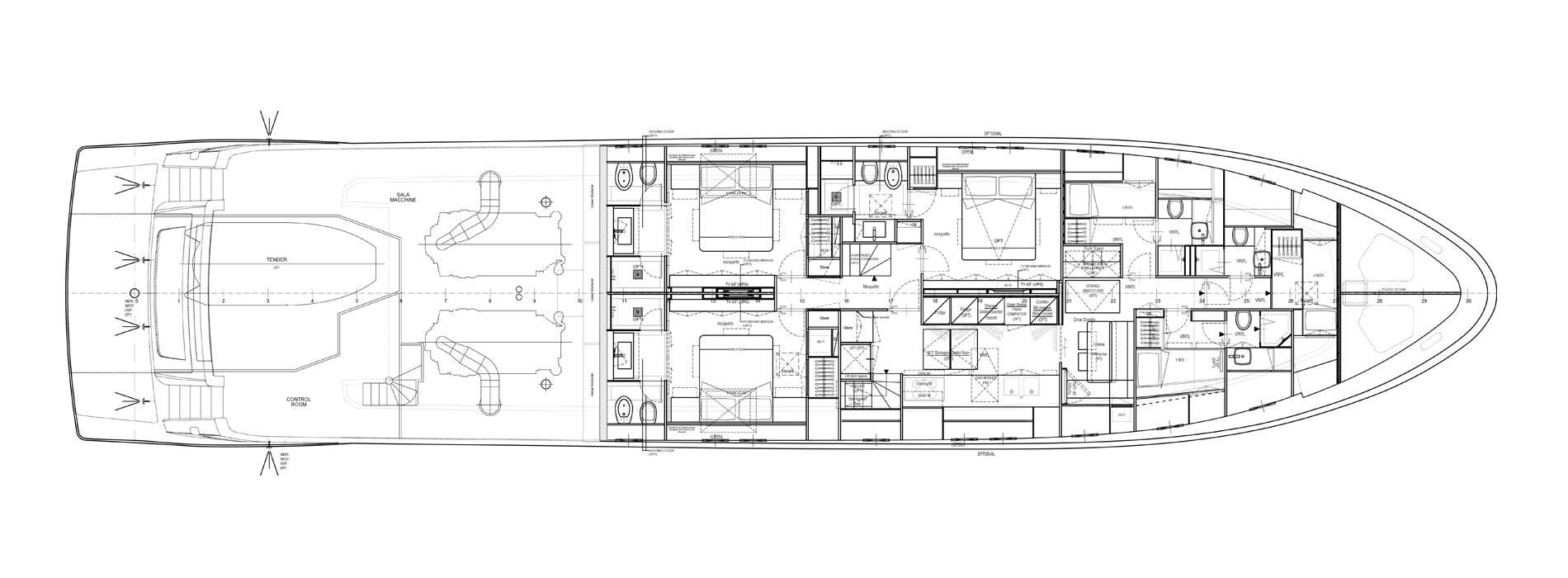 Sanlorenzo Yachts SL106-725 Cubierta inferior