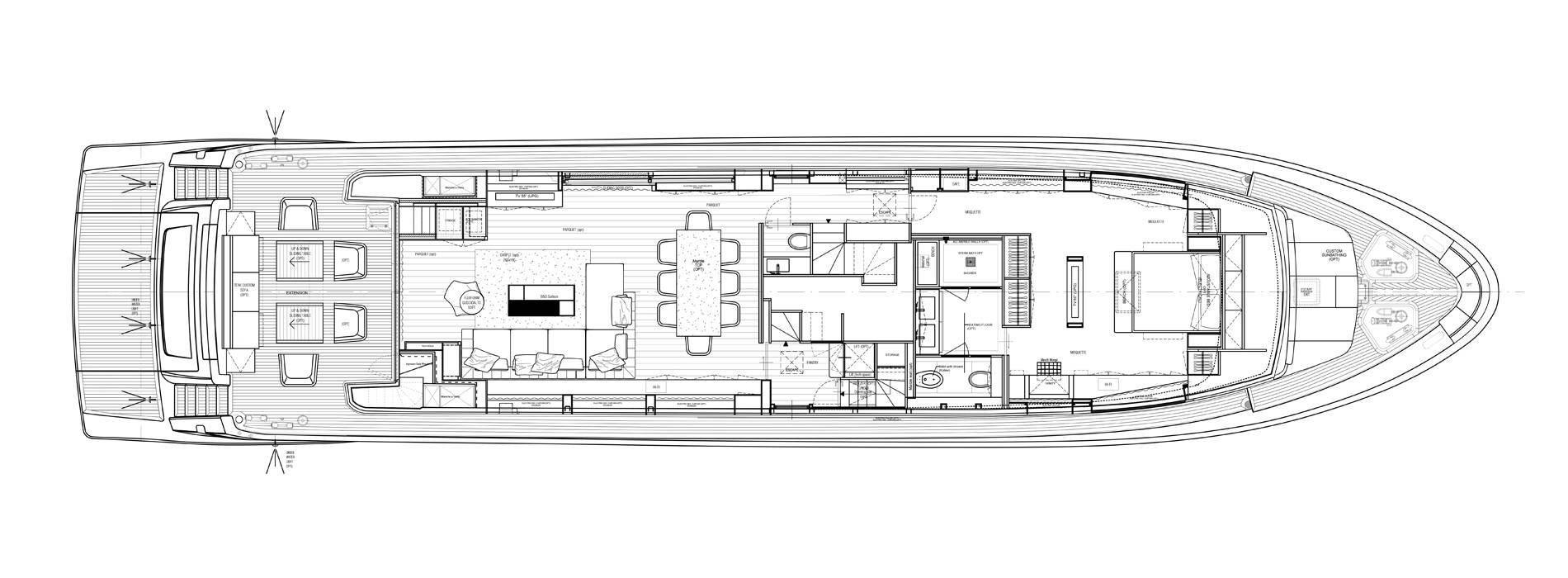 Sanlorenzo Yachts SL106-725 Cubierta principal