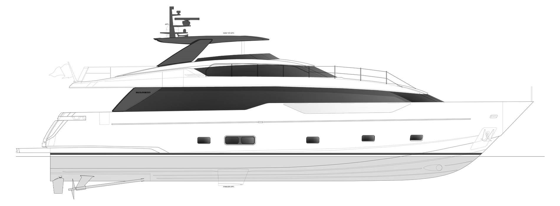 Sanlorenzo Yachts SL90 Asymmetric Perfil
