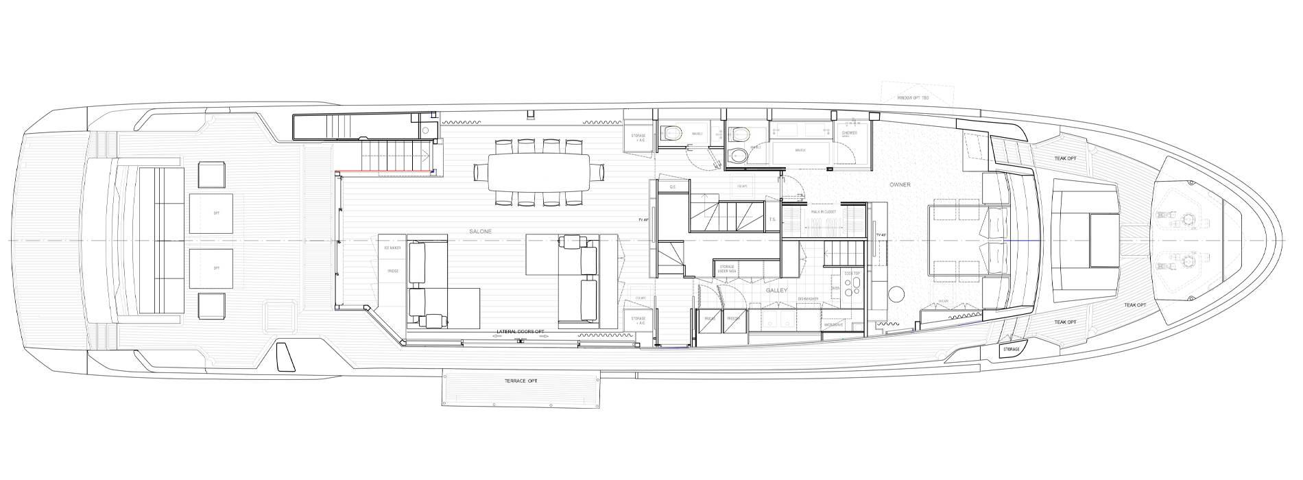 Sanlorenzo Yachts SL106 Asymmetric Cubierta principal