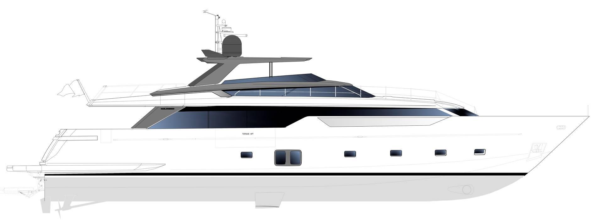 Sanlorenzo Yachts SL106 Asymmetric Perfil