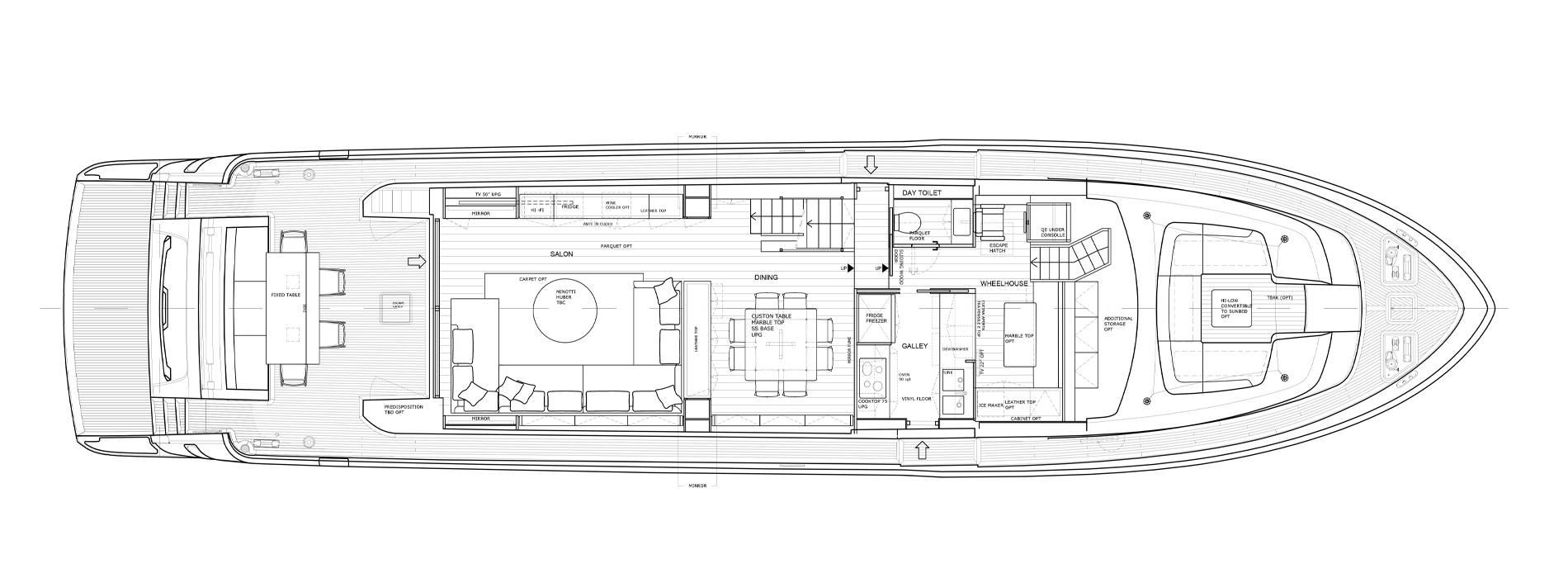 Sanlorenzo Yachts SL86-727 Cubierta principal