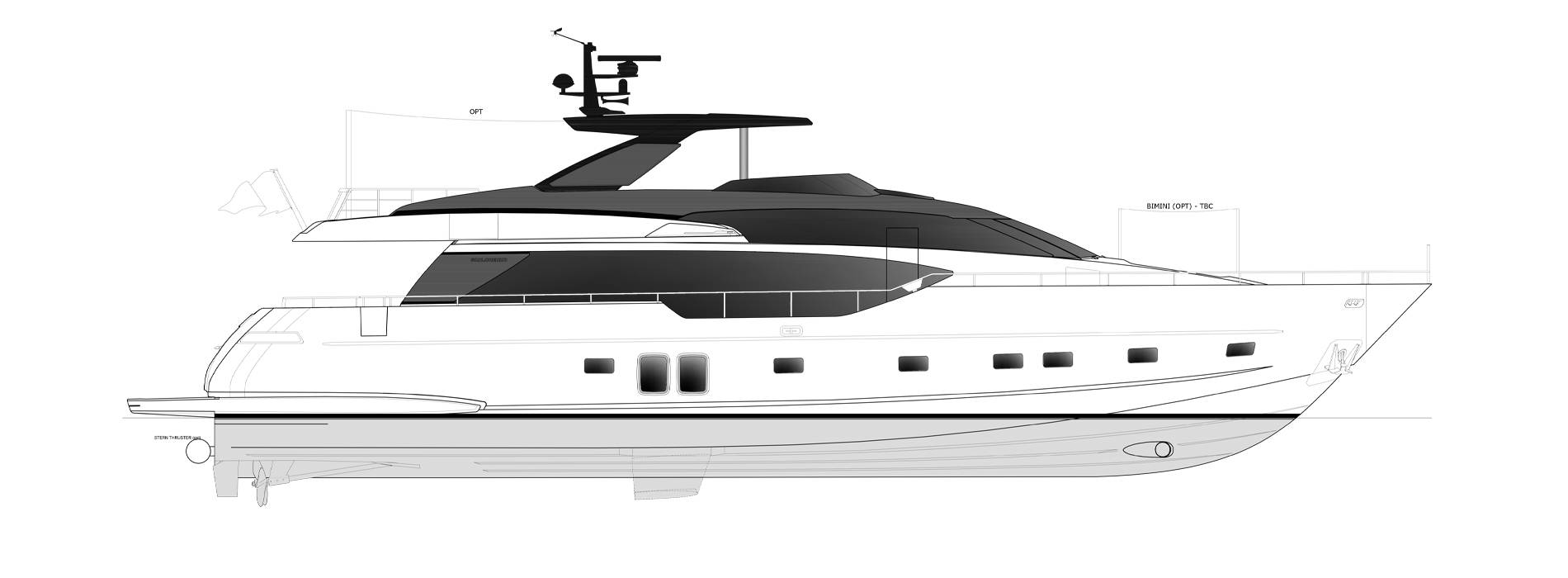 Sanlorenzo Yachts SL86-727 Perfil