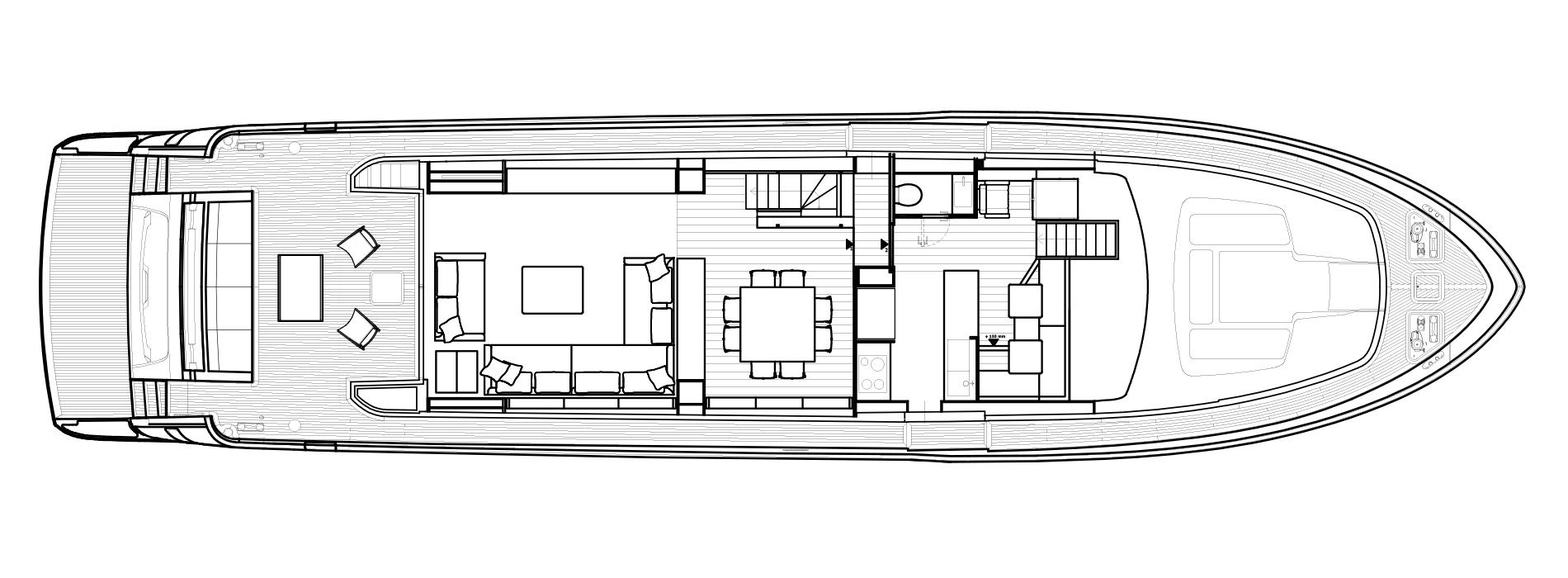 Sanlorenzo Yachts SL86 Cubierta principal Versione USA