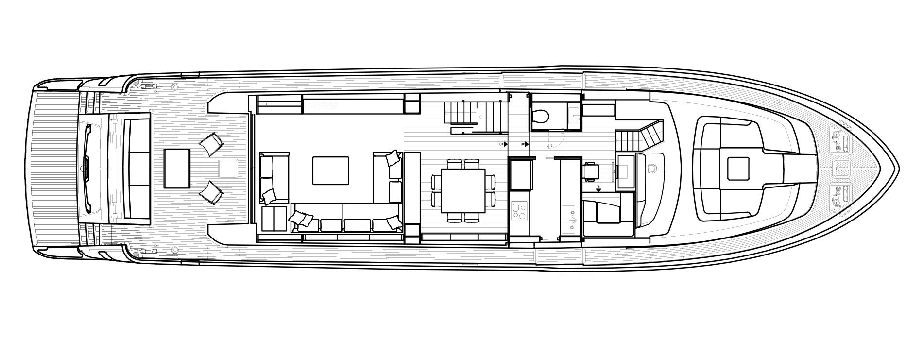 Sanlorenzo Yachts SL86 Cubierta principal Versione A