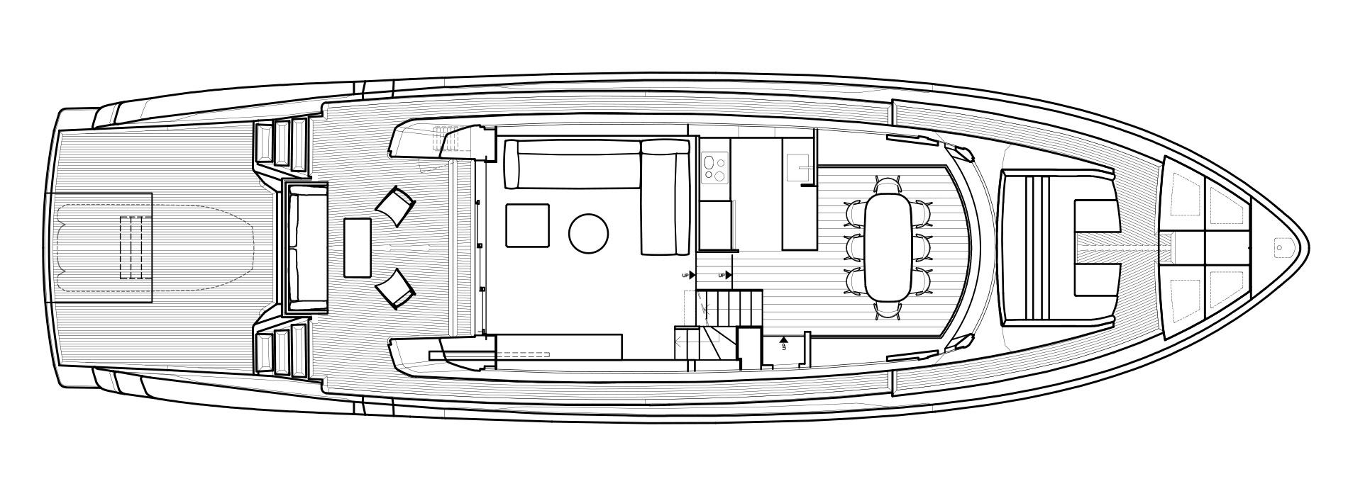 Sanlorenzo Yachts SX76 Cubierta principal Versione B