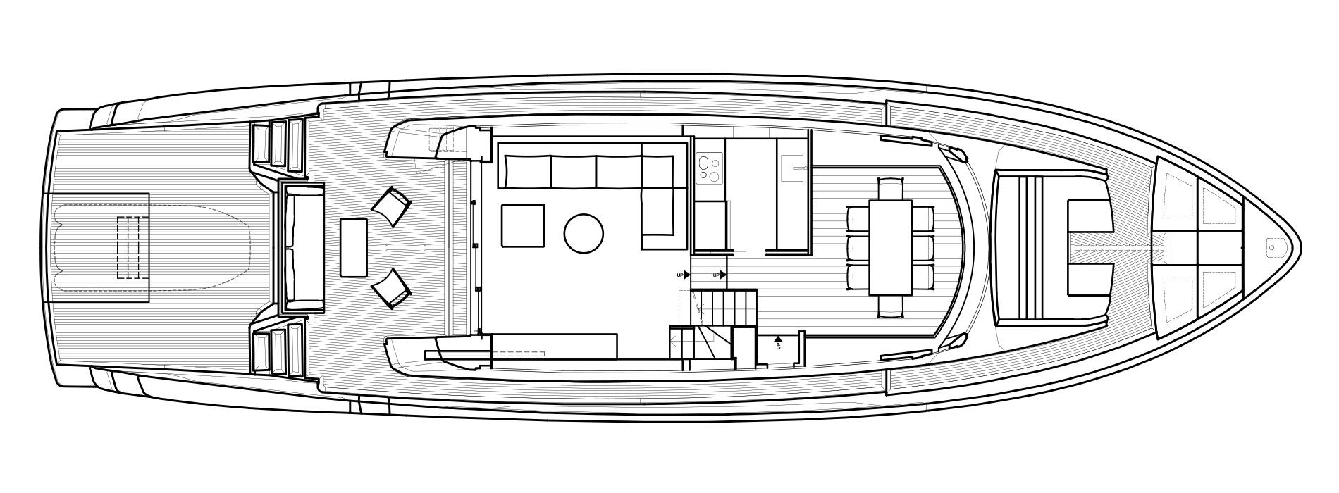 Sanlorenzo Yachts SX76 Cubierta principal Versione A