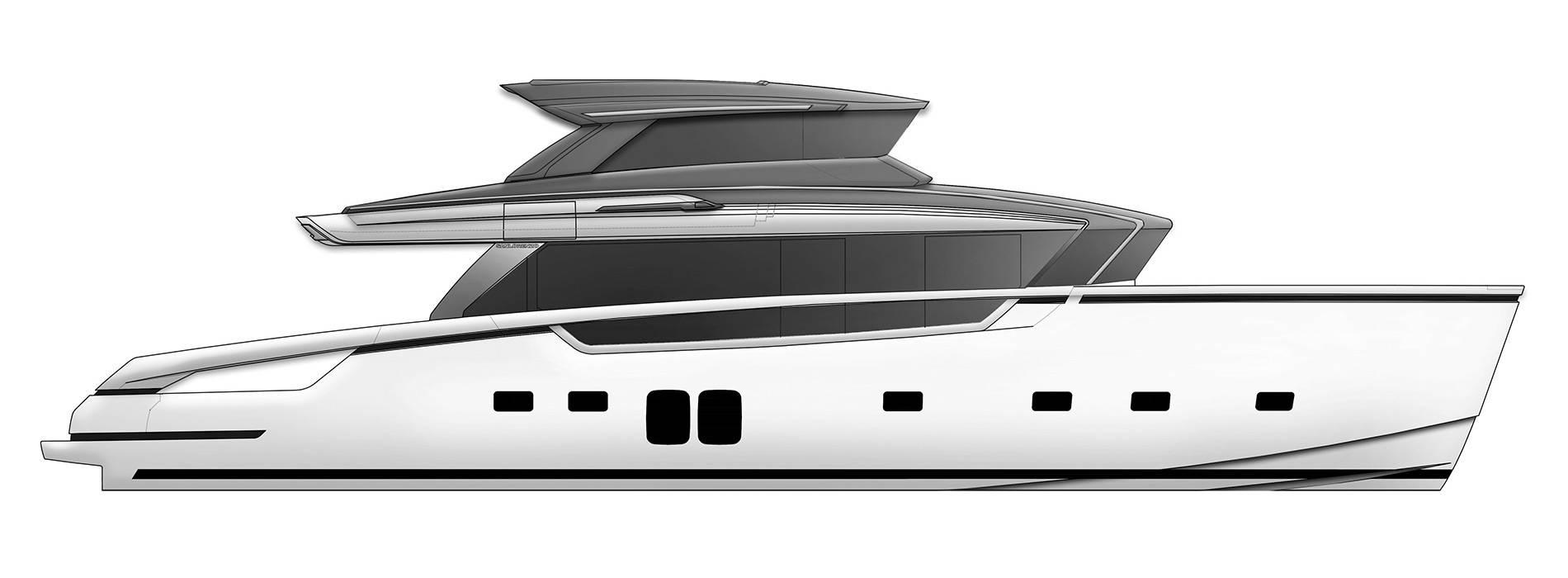 Sanlorenzo Yachts SX76 Perfil