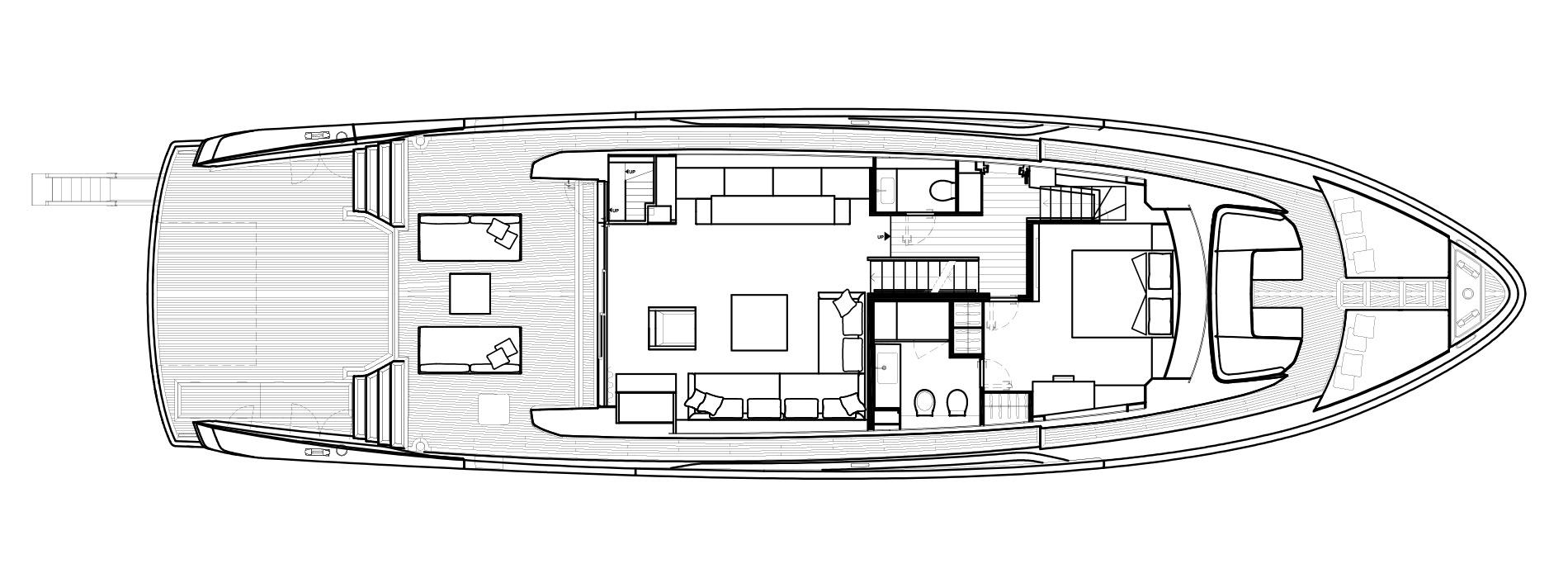 Sanlorenzo Yachts SX88 Cubierta principal Versione C