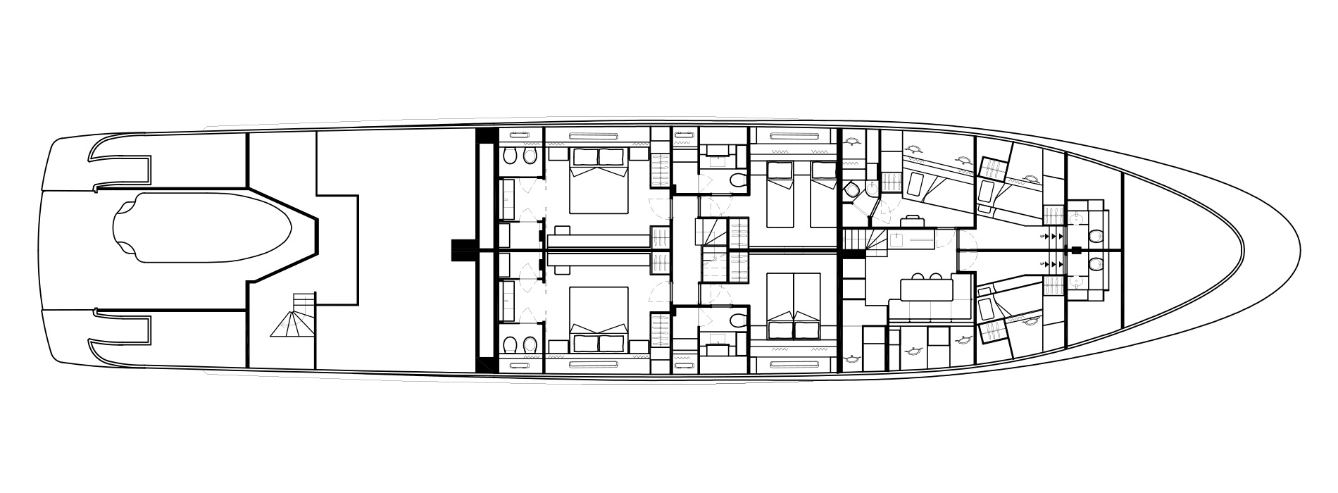 Sanlorenzo Yachts SD126 Lower Deck Version A bis