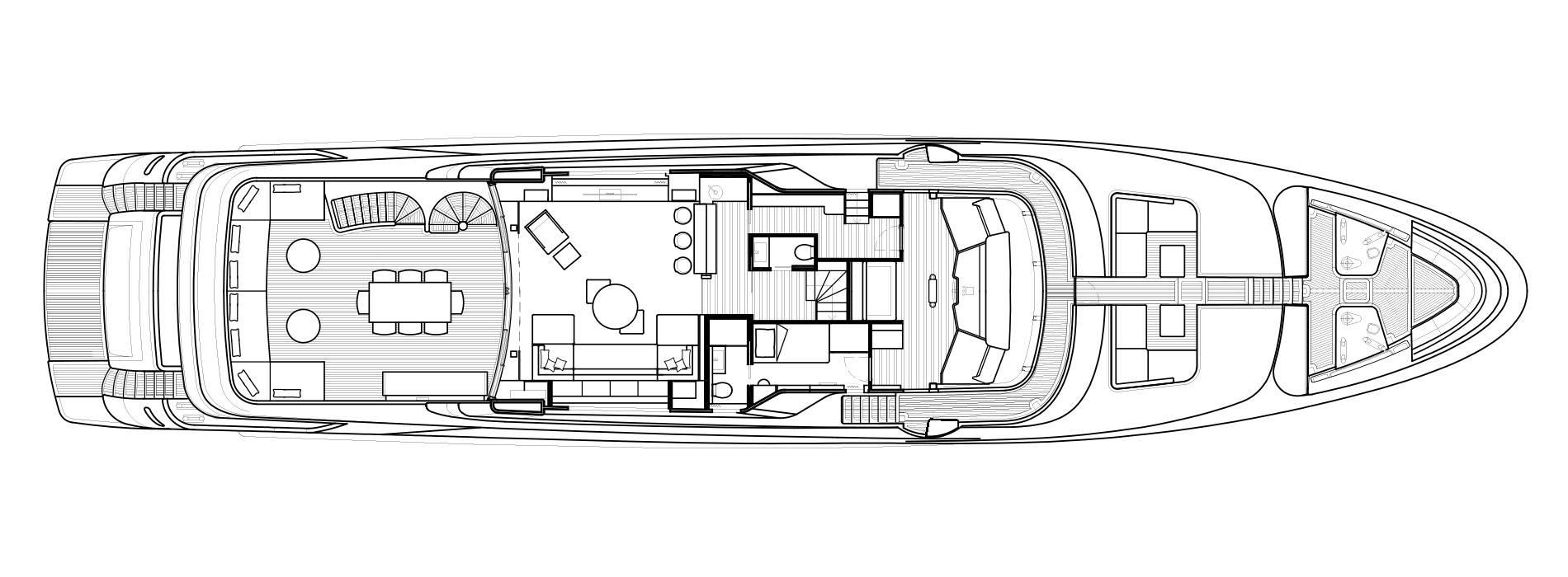 Sanlorenzo Yachts SD126 Upper Deck