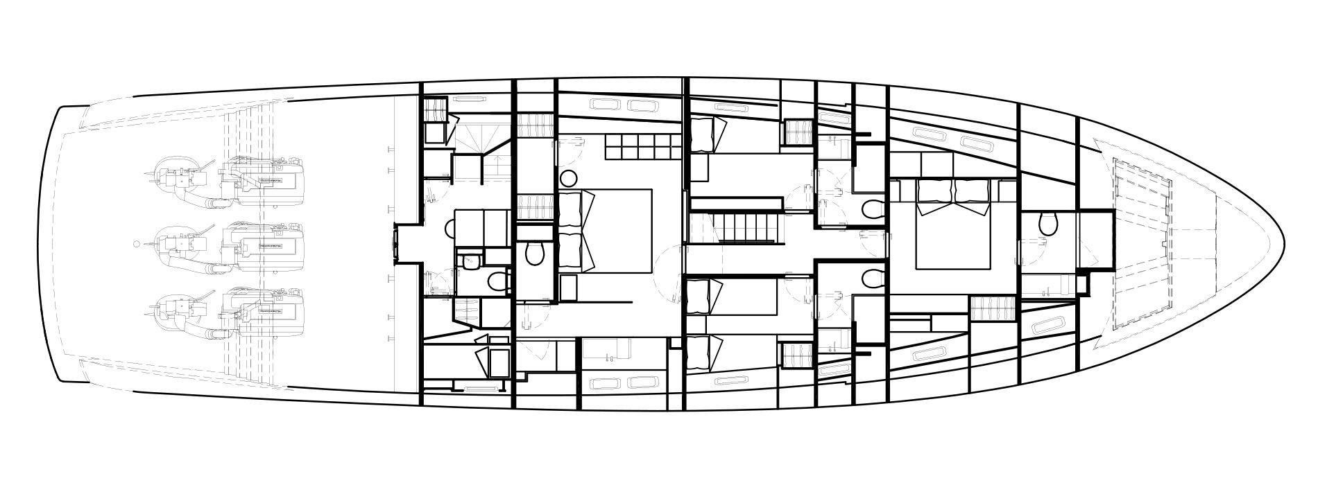 Sanlorenzo Yachts SX88 Lower Deck Version Lissoni
