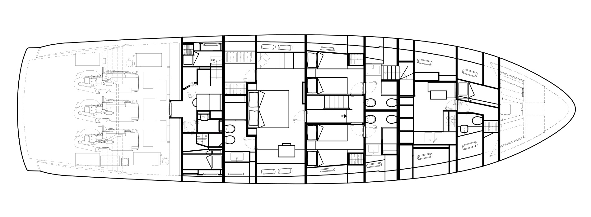 Sanlorenzo Yachts SX88 Lower Deck Version C