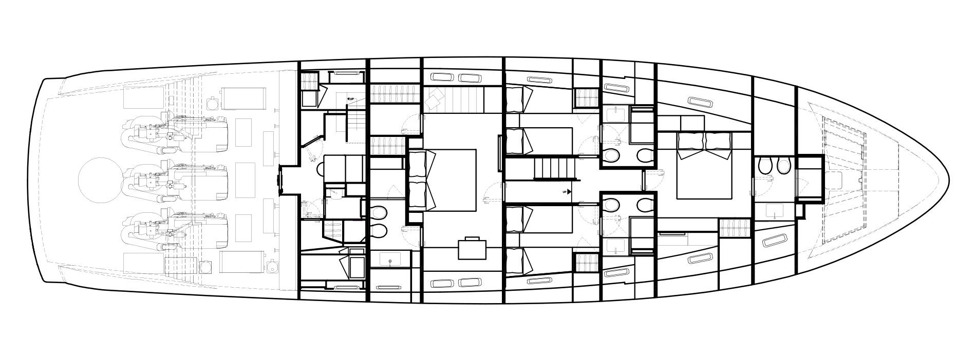 Sanlorenzo Yachts SX88 Lower Deck Version A