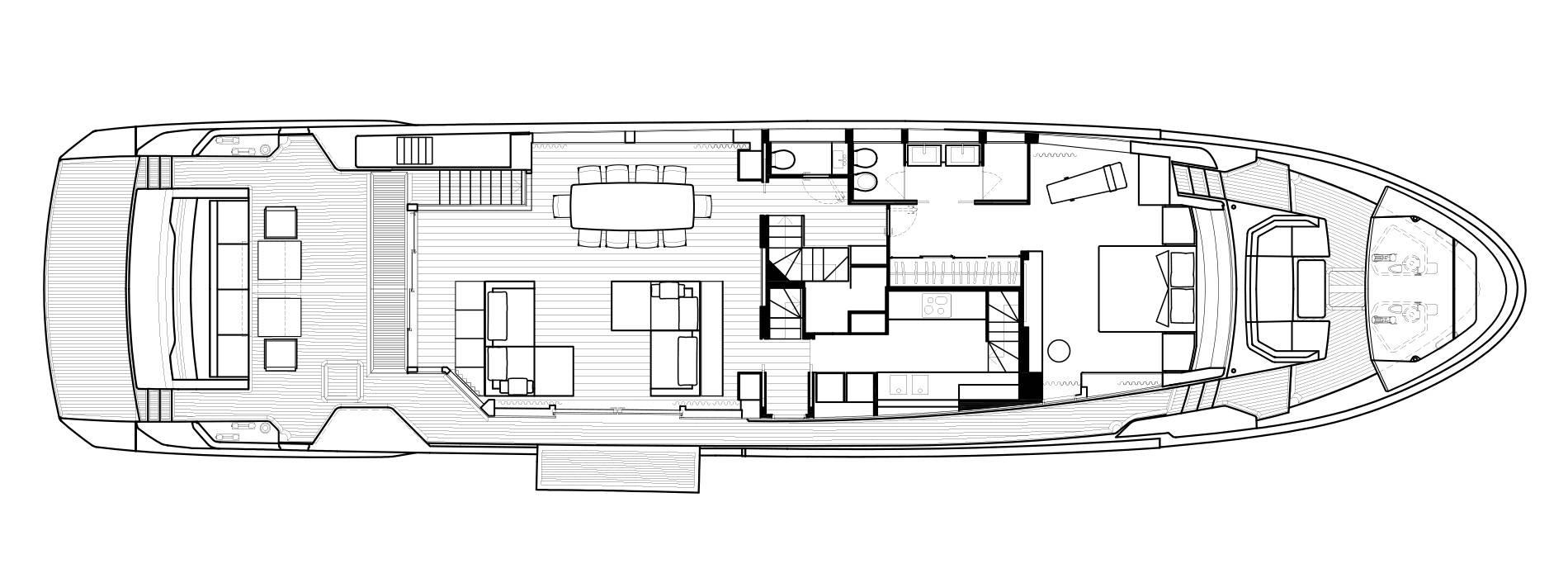 Sanlorenzo Yachts SL102 Asymmetric Main deck
