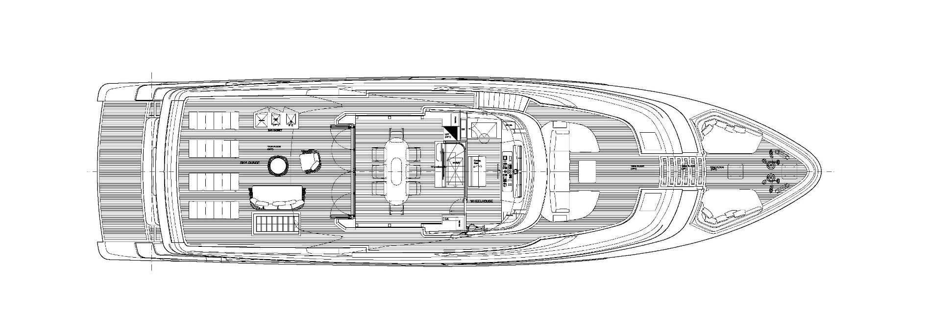 Sanlorenzo Yachts SD96 Cuberta superior