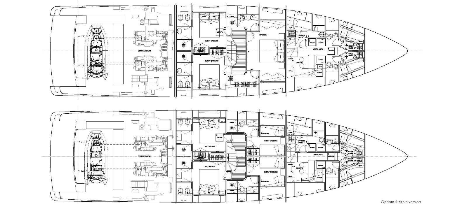 Sanlorenzo Yachts SD96 Cubierta inferior